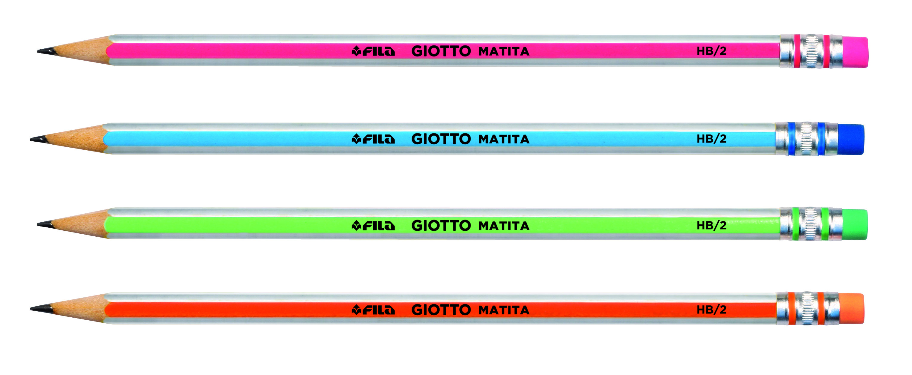Lápiz de grafito con goma Giotto Matita 233200