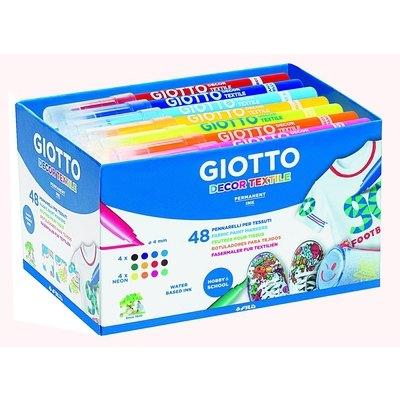 Rotuladores de colores Giotto Decortextile Schoolpack 494700