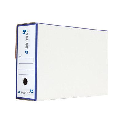 Caja de archivo definitivo cartón DisOfic folio prolongado 390x275x115mm
