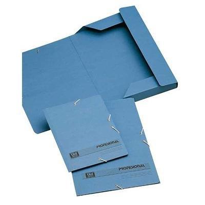 Carpeta con gomas cartón solapas azul Definiclas 94633