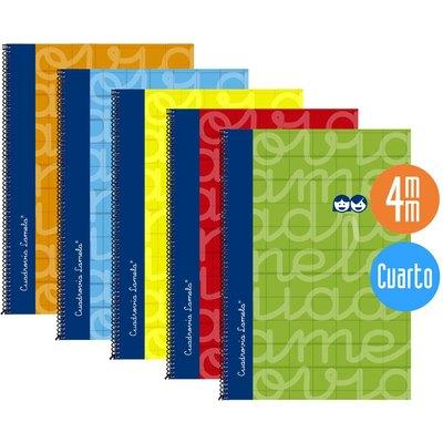 Cuaderno espiral cubierta extradura tamaño cuarto Lamela 7CTE003N
