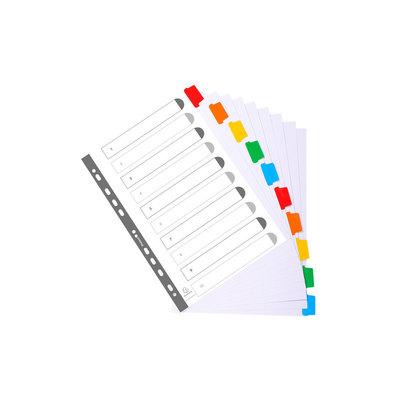 Separadores de cartulina A4 Maxi con pestañas de colores Exacompta 6 pestañas
