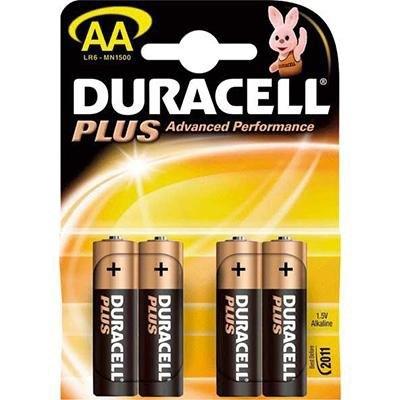 Pila alcalina Duracell Plus power AA 10LR6DRP