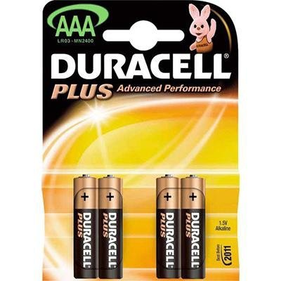 Pila alcalina Duracell Plus power AAA lr 03