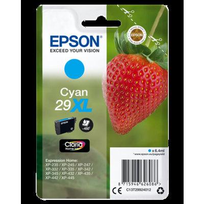 Cartucho Inkjet Epson 29XL Cian 450 páginas C13T299240