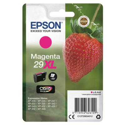 Cartucho Inkjet Epson 29XL Magenta 450 páginas C13T29934010