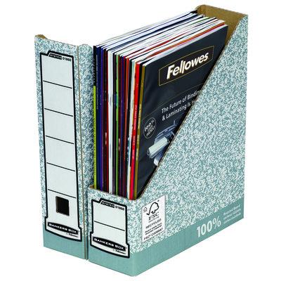 Revistero automático jaspeado Fellowes Bankers Box System