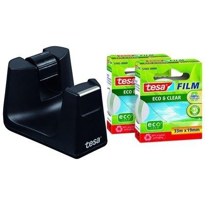 Portarrollos sobremesa Tesa Easy Cut Smart con dos rollos cinta Tesa Film 53905