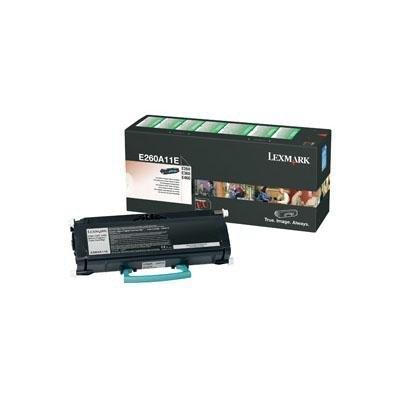 Tóner Lexmark E260A11E negro 3.500 páginas E260A11E