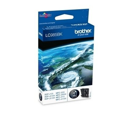 Cartucho inkjet Brother LC-985 Negro  300 páginas LC985BKBP