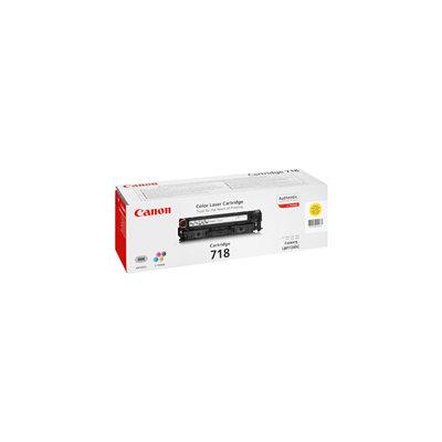 Tóner Canon 718 Y Amarillo 2.900 páginas