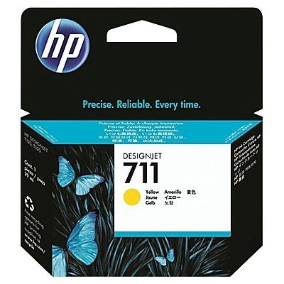 Cartucho inkjet HP 711 Amarillo 29 ml