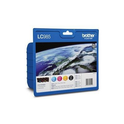 Cartucho inkjet Brother LC-985 Pack 4 colores  LC-985VALBP
