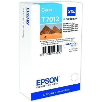Cartucho inkjet Epson T7012 Cian XXL  C13T701240