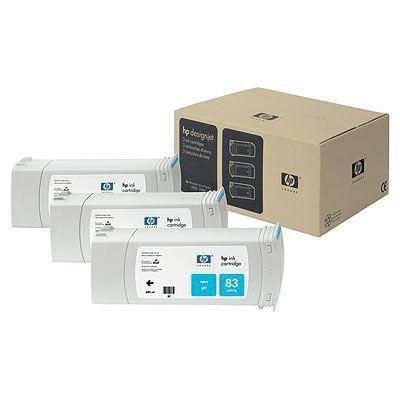 Cartucho inkjet HP 83 Cian Pack 3 680 ml C5073A
