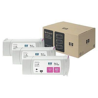 Cartucho inkjet HP 83 Magenta Pack 3 680 ml C5074A
