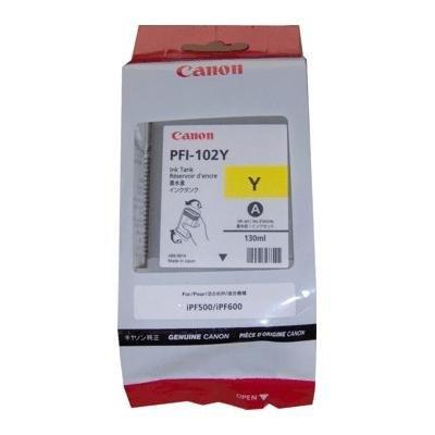 Cartucho inkjet Canon PFI-102 Amarillo 130 ml 0898B001AA