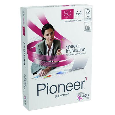 Papel fotocopiadora multifunción premium  80g Pioneer A4 297x210mm