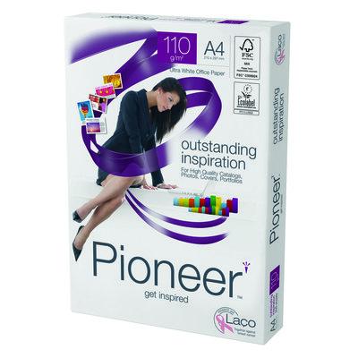 Papel fotocopiadora multifunción premium 110g Pioneer A4 297x210mm