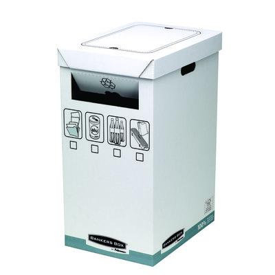Papelera de cartón para reciclaje Fellowes Bankers-Box 0193201