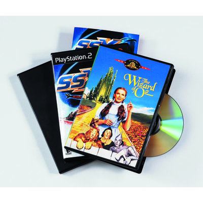 Caja CD/DVD con carátula Fellowes slim