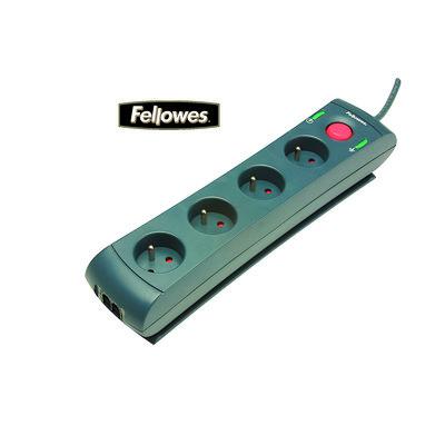 Regleta protectora contra sobrevoltaje con línea telefónica Fellowes 98831