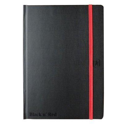Cuaderno cosido con planificador semanal tapas extraduras Oxford Black n´ Red 400089204