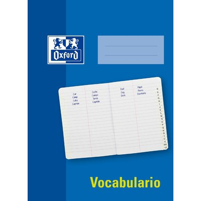 Cuaderno grapado Oxford Vocabulario con indice A-Z 400107691