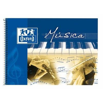 Cuaderno de música Oxford cuarto apaisado 8 pentagramas