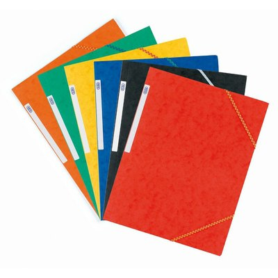 Carpeta con gomas Elba Top File rojo