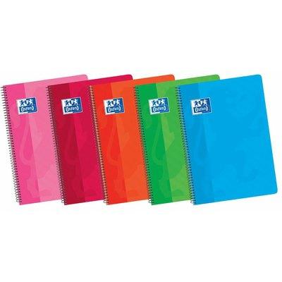 Cuaderno espiral tapa plástico folio cuadriculado 80 hojas Oxford Classic 400106963
