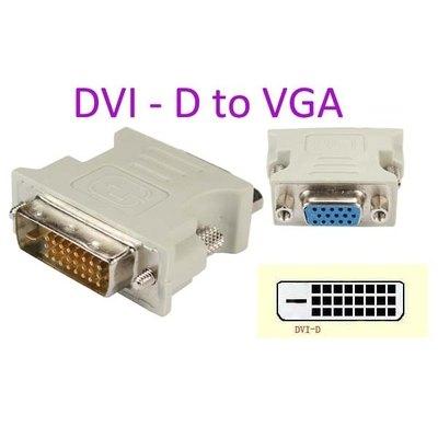 Adaptador DVI 24 + 5 Macho a VGA hembra