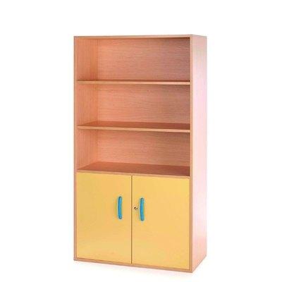 Armario alto Cabinet con puertas bajas 175x83x40cm (altoxanchoxfondo) 5608 HAYA/AMARILLO