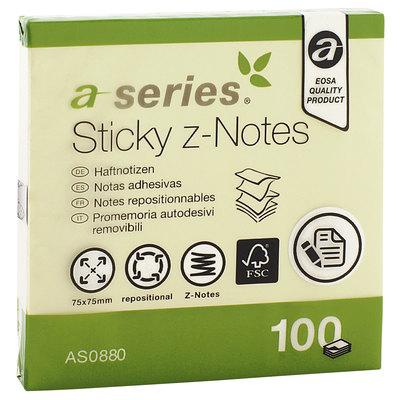 Bloc de notas adhesivas zig zag  A-Series