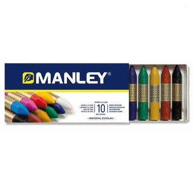 Lápices de cera de colores Manley caja de 10