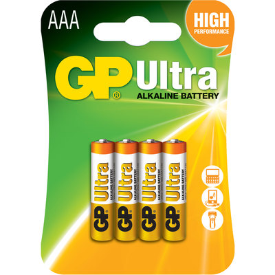 Pila alcalina GP Ultra Plus Power Bank LR03-B4UP