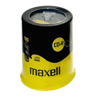 CD-R grabable 700Mb 80 minutos Maxell tarrina de 100 unidades