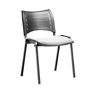 Silla de colectividad Acuario1 con el asiento tapizado ACUARIO1 E/N A/1010 PVC/N
