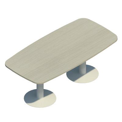 Mesa de reunión rectangular pie de copa CAR421 ESTR/NG OM