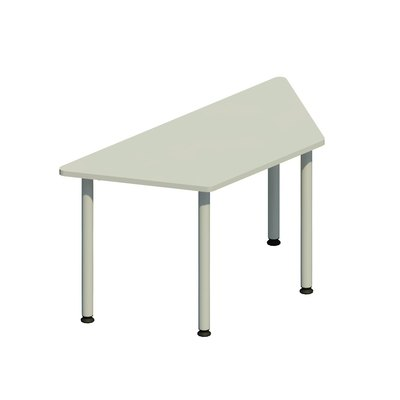 Mesa polivalente trapezoidal esrtuctura blanca NL71001-NG