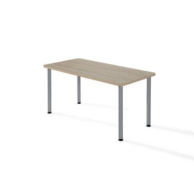 Mesa polivalente rectangular estructura metalizada blanco