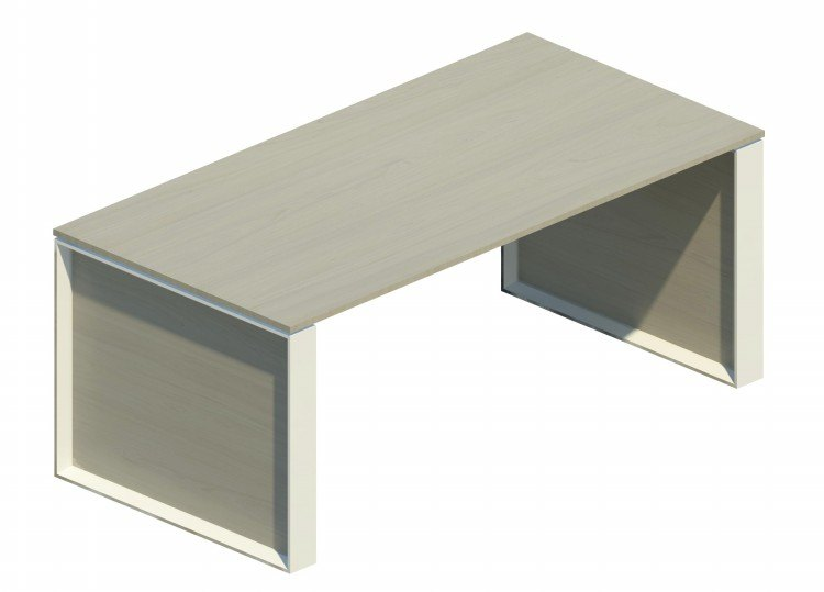 Mesa Omega con marco blanco OM30002 NB