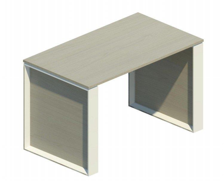 Mesa auxiliar Omega con marco blanco 120x69cm OM30009 BL