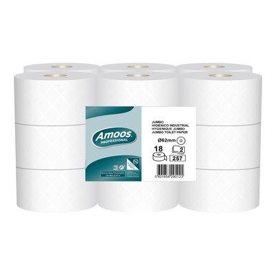 Papel higiénico industrial Jumbo 2 capas Amoos J629010.1