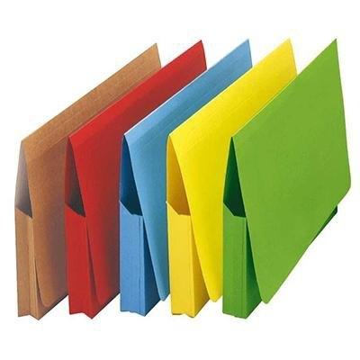 Subcarpeta cartulina con bolso y solapa folio Elba amarillo