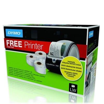 Impresora etiquetas térmicas Dymo Labelwriter 450+3 rollos de etiquetas LW 1896042