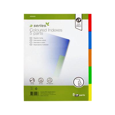 Separadores de PP A4 colores A-Series 10 pestañas