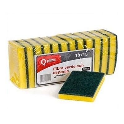 Estropajo con esponja 10x15 Qalita AB106