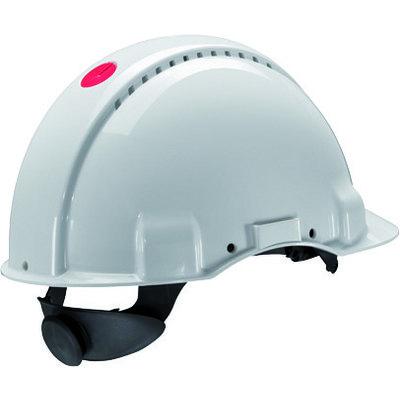 Casco de seguridad 3M G3000 con ventilación y banda sudor plástico color blanco 328792