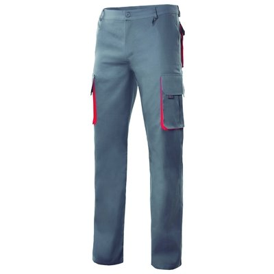 Pantalón bicolor multibolsillos con refuerzo de tejido 103004 0 12 48